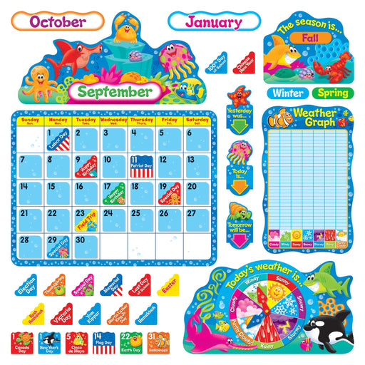 T8306 Bulletin Board Sea Life Calendar