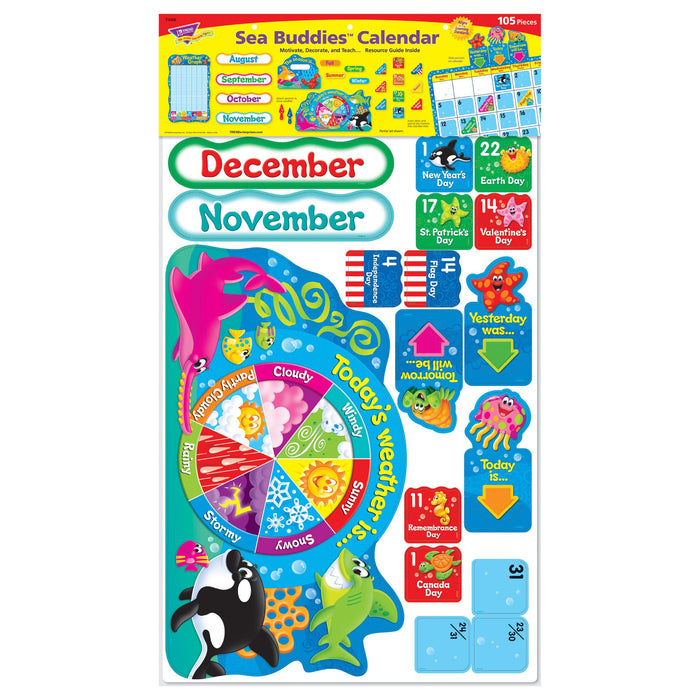 T8306 Bulletin Board Sea Life Calendar Package