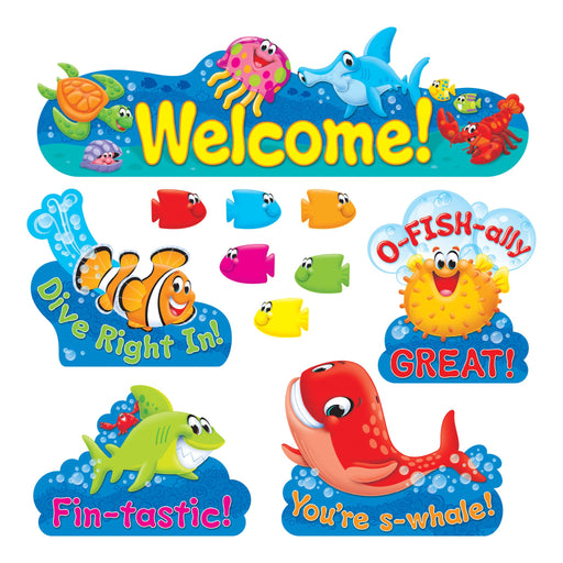 T8307 Bulletin Board Sea Life Welcome