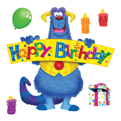 T8311 Bulletin Board Furry Monster Friends Birthday