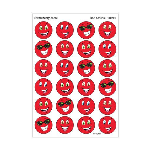 T83201 Stickers Scratch n Sniff Strawberry Red Smile