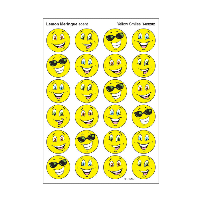 T83202 Stickers Scratch n Sniff Lemon Meringue Yellow Smile
