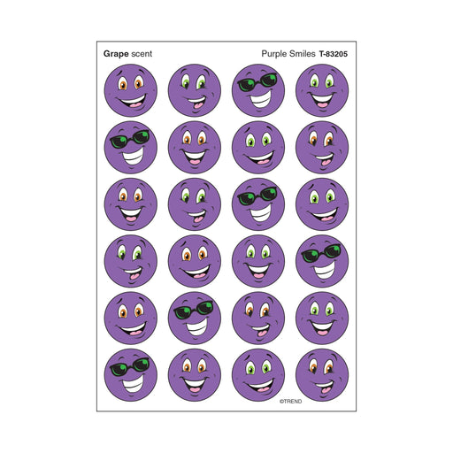 T83205 Stickers Scratch n Sniff Grape Purple Smile