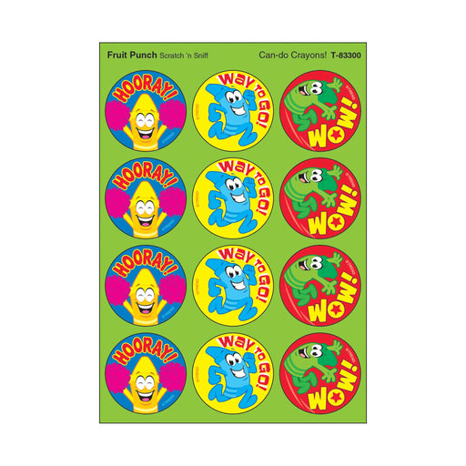 T83300 Stickers Scratch n Sniff Fruit Punch Crayons