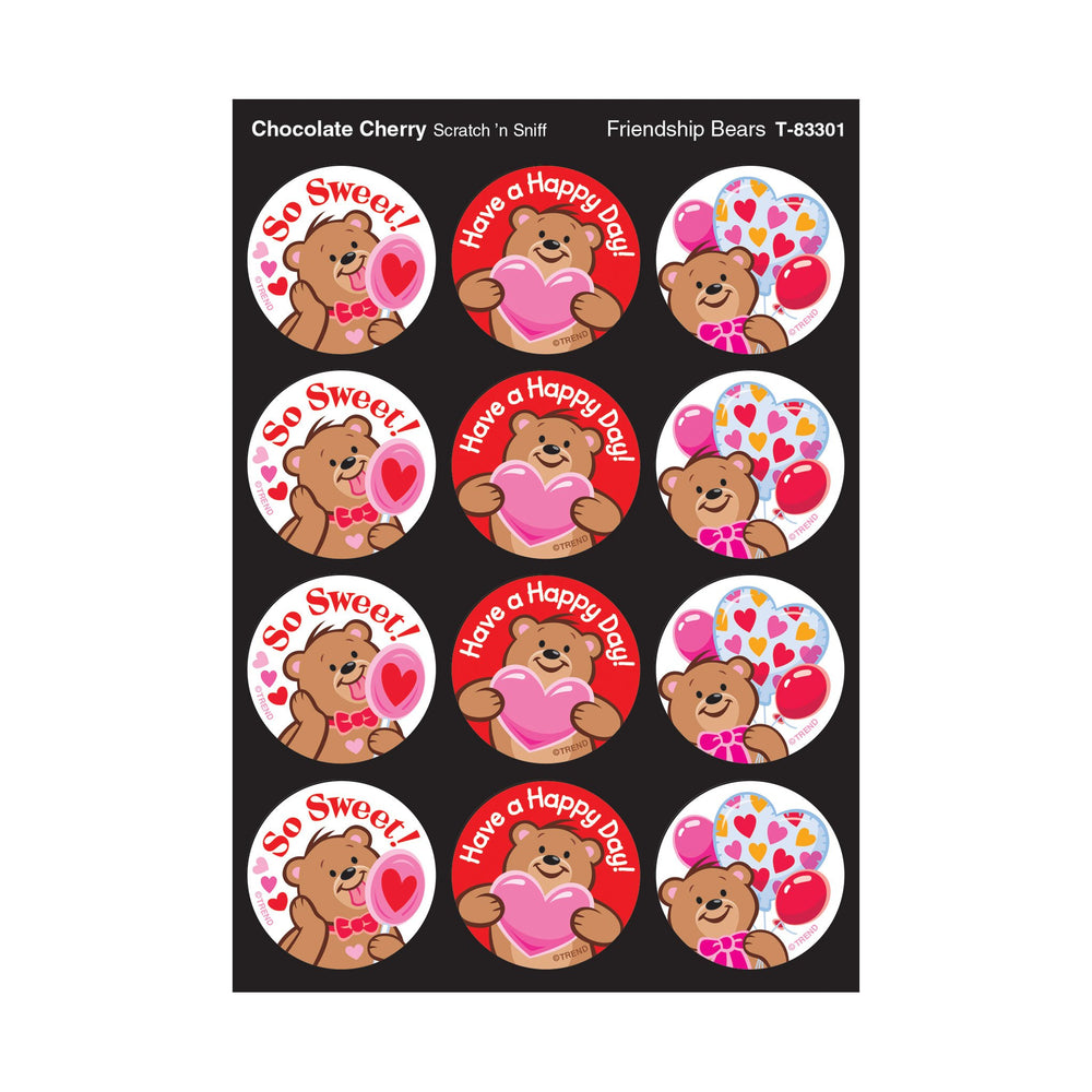 T83301 Stickers Scratch n Sniff Chocolate Cherry Bears
