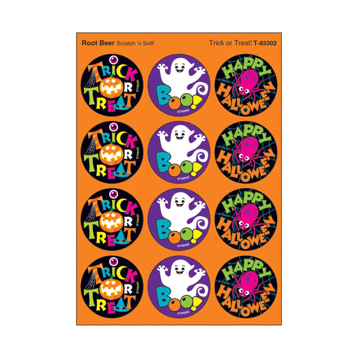 T83302 Stickers Scratch n Sniff Root Beer Halloween