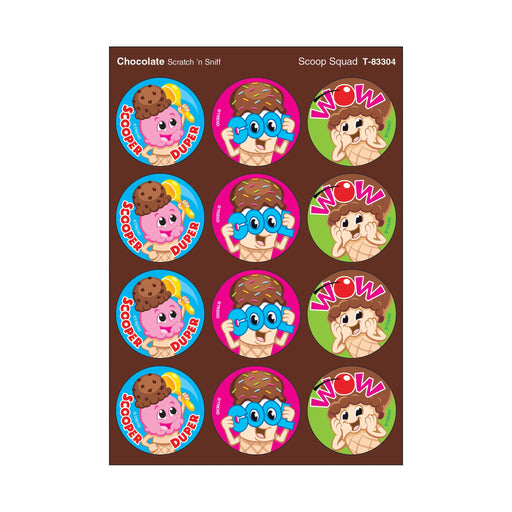 T83304 Stickers Scratch n Sniff Chocolate Ice Cream