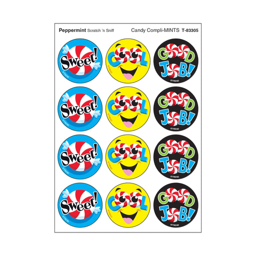 T83305 Stickers Scratch n Sniff Peppermint Candy Compliments