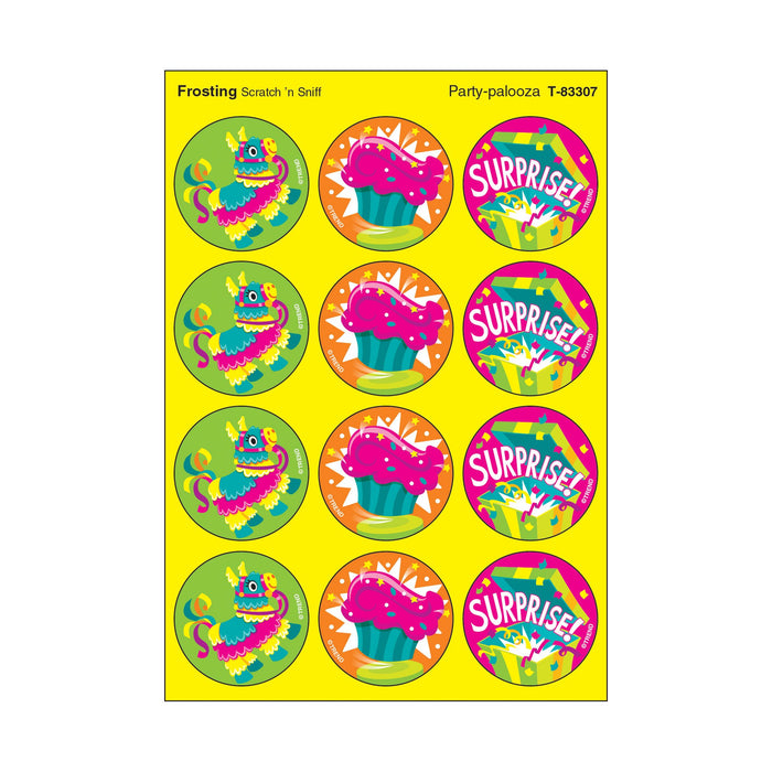 T83307 Stickers Scratch n Sniff Frosting Birthday Party Celebration