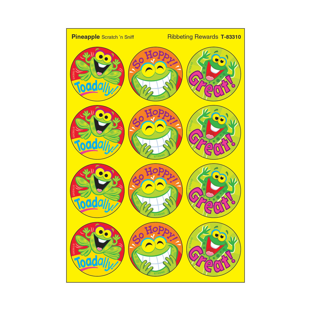 T83310 Stickers Scratch n Sniff Pineapple Frogs Praise Words