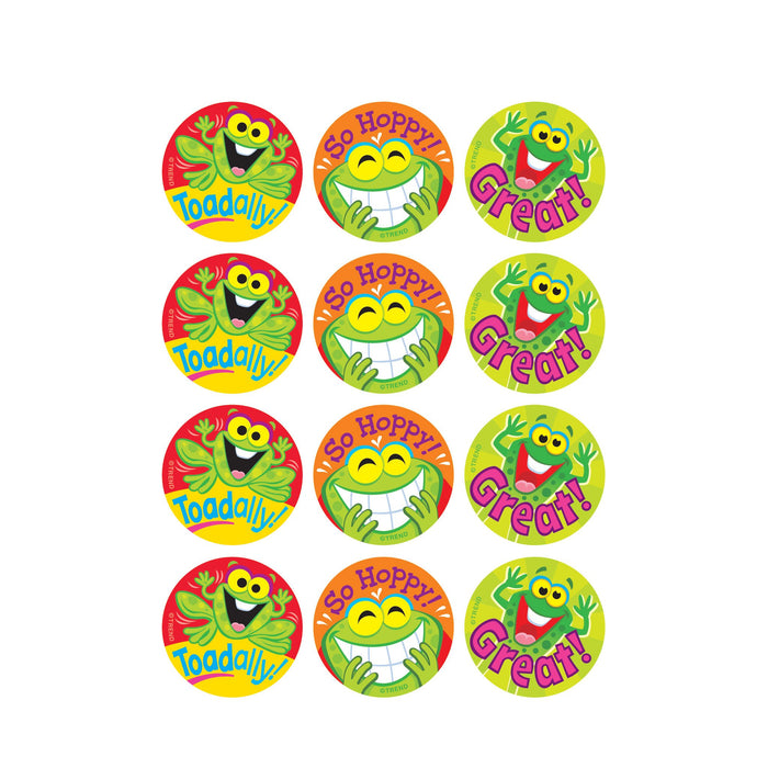 T83310 Stickers Scratch n Sniff Pineapple Frogs Praise Word