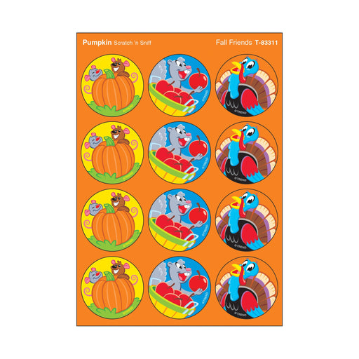 T83311 Stickers Scratch n Sniff Pumpkin Fall Thanksgiving