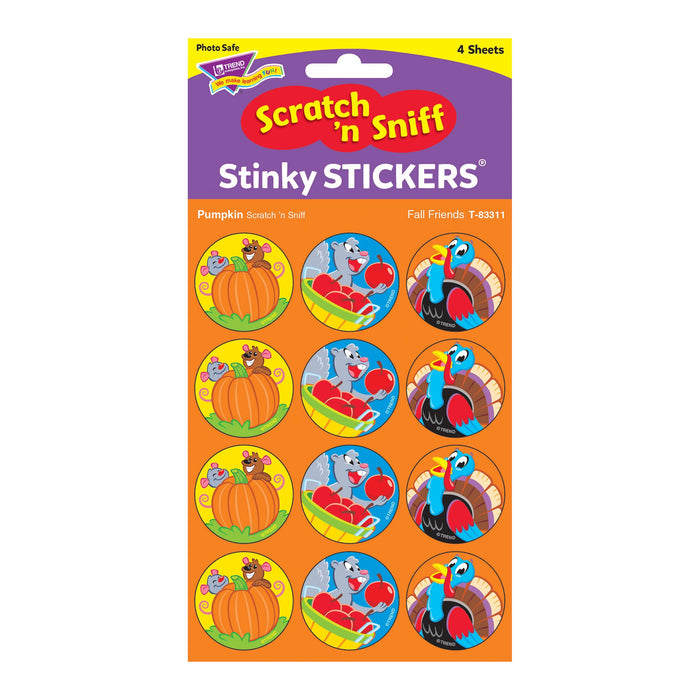 T83311 Stickers Scratch n Sniff Pumpkin Fall Thanksgiving Package