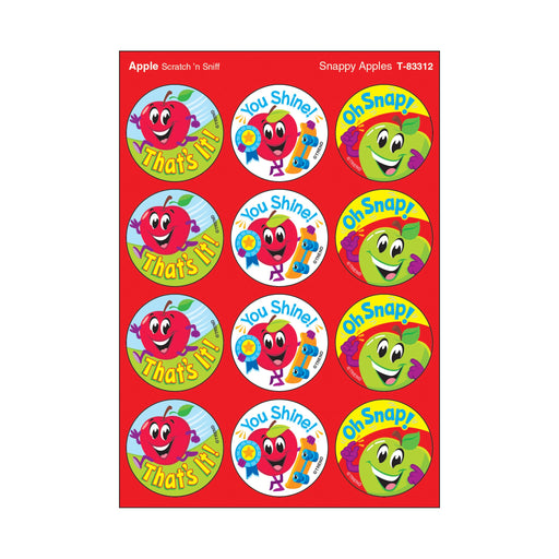 T83312 Stickers Scratch n Sniff Apple Praise Words