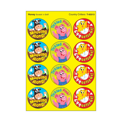 T83313 Stickers Scratch n Sniff Honey Farm Animals