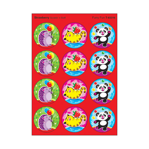 T83316 Stickers Scratch n Sniff Strawberry Furry Fun