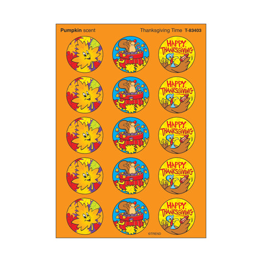 T83403 Stickers Scratch n Sniff Pumpkin Thanksgiving