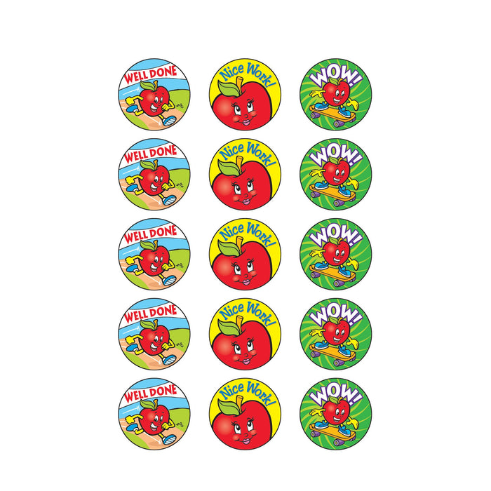T83409 Stickers Scratch n Sniff Apple Praise Words