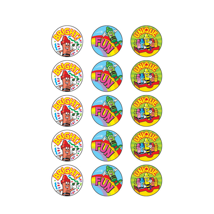 T83416 Stickers Scratch n Sniff Fruit Punch Crayons