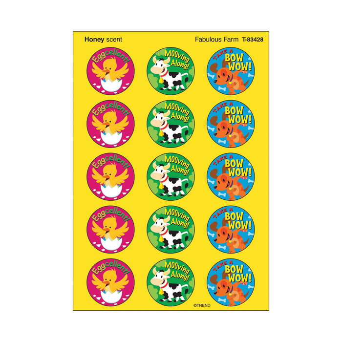 T83428 Stickers Scratch n Sniff Honey Farm Animals