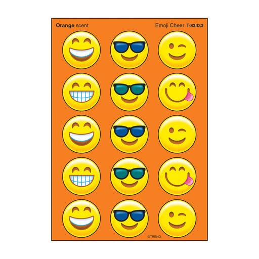 T83433 Stickers Scratch n Sniff Orange Emoji Cheer
