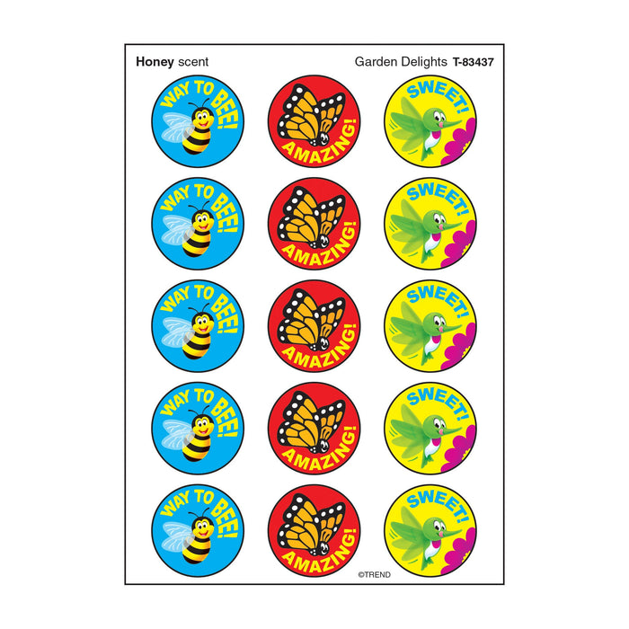 T83437 Stickers Scratch n Sniff Honey Garden Bugs Birds