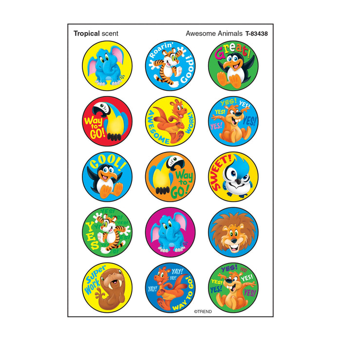 T83438 Stickers Scratch n Sniff Tropical Animals