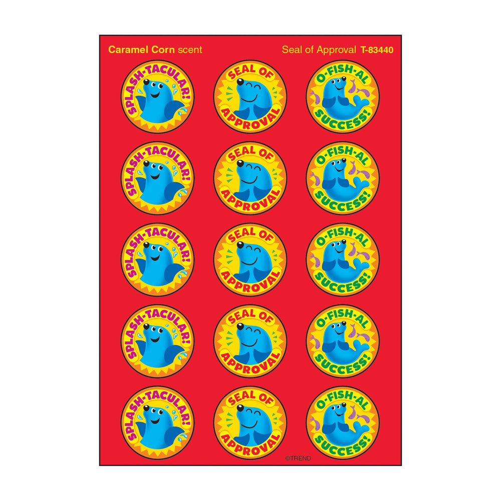 T83440 Stickers Scratch n Sniff Caramel Corn Seal Approval