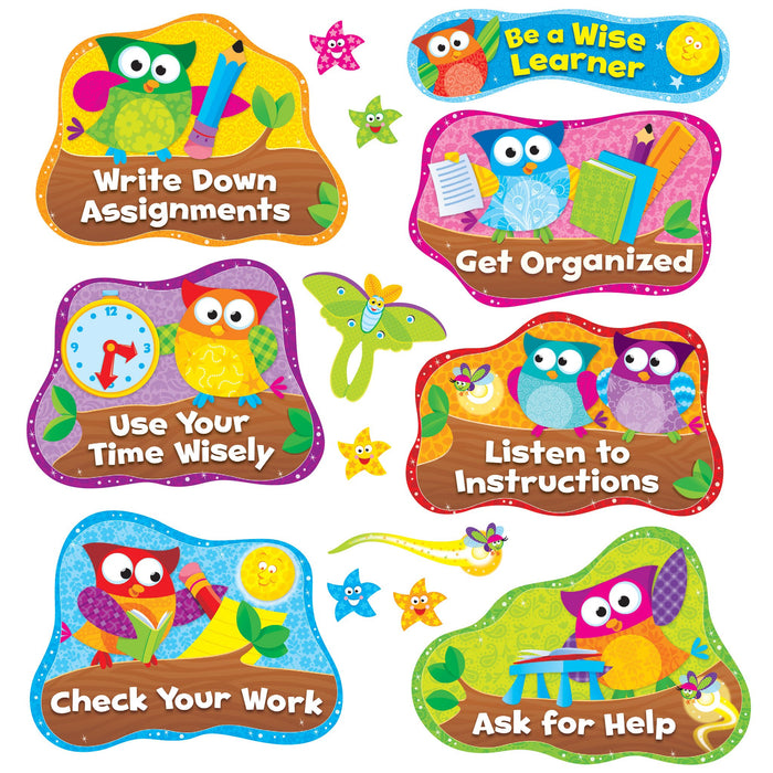 T8361 Bulletin Board Owl Star Study Habits