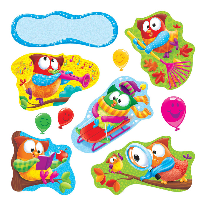 T8365 Bulletin Board Owl Stars School Seasons