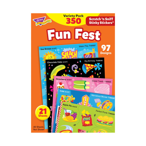 T83906 Sticker Scratch n Sniff Variety Pack Fun Fest