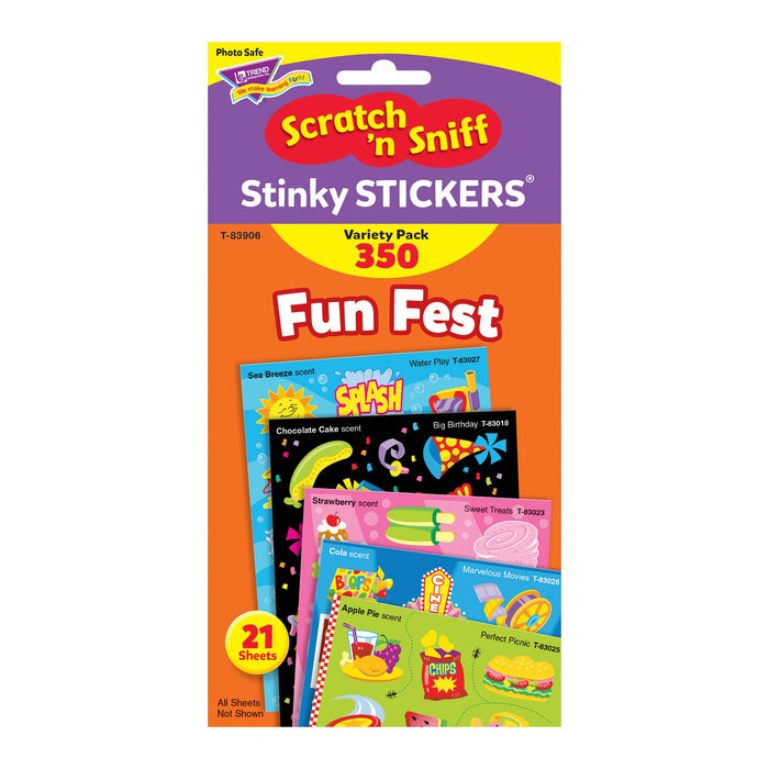 T83906 Sticker Scratch n Sniff Variety Pack Fun Fest Package