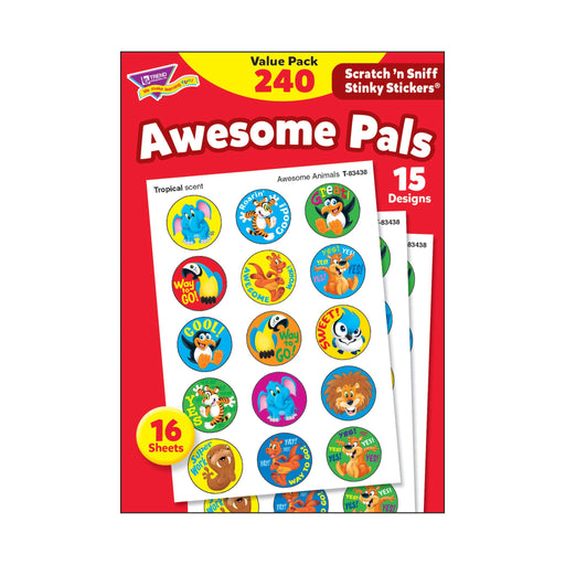 T83914 Sticker Scratch n Sniff Value Pack Awesome Pals