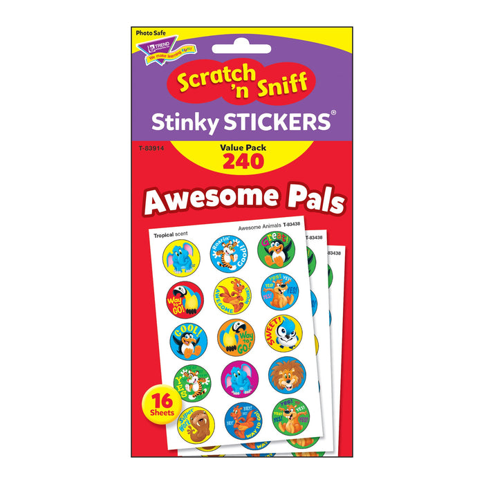 T83914 Sticker Scratch n Sniff Value Pack Awesome Pals Package