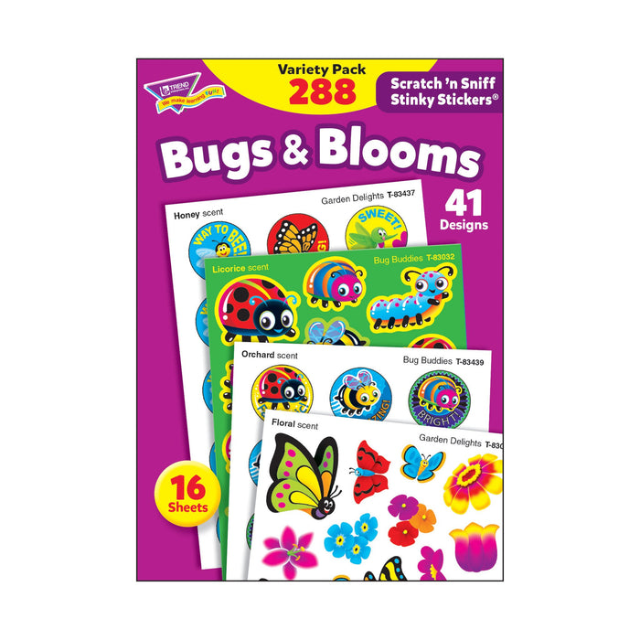 T83916 Sticker Scratch n Sniff Variety Pack Bugs Blooms