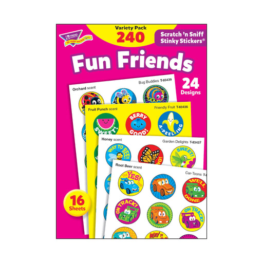 T83917 Sticker Scratch n Sniff Variety Pack Fun Friends