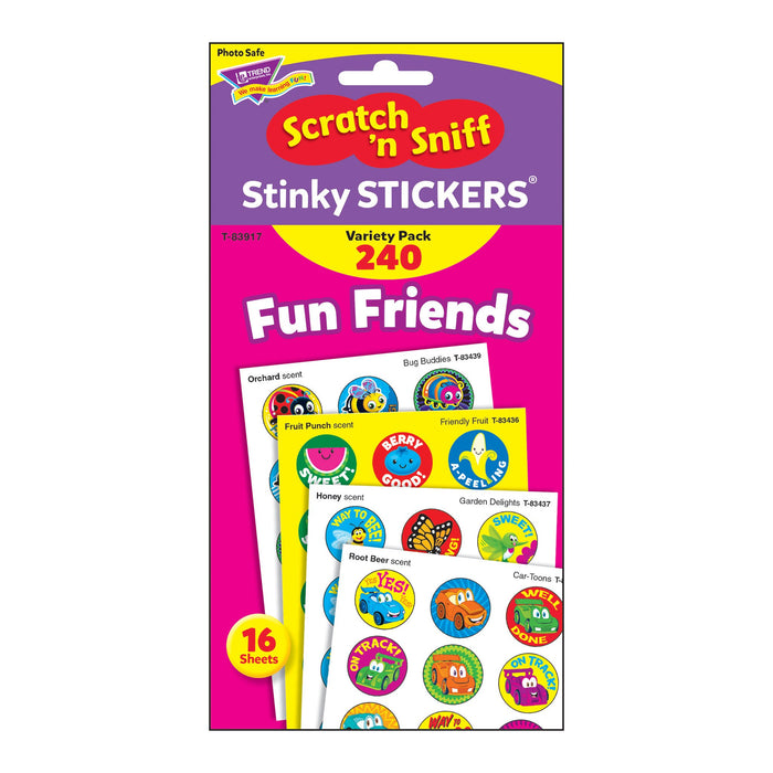 T83917 Sticker Scratch n Sniff Variety Pack Fun Friends Package