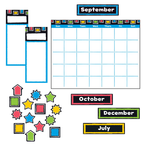 T8392 Bulletin Board Bold Wipe Off Calendar