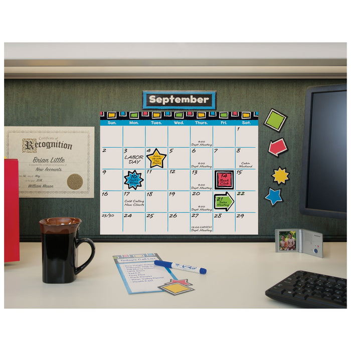 T8392 Bulletin Board Bold Wipe Off Calendar Display