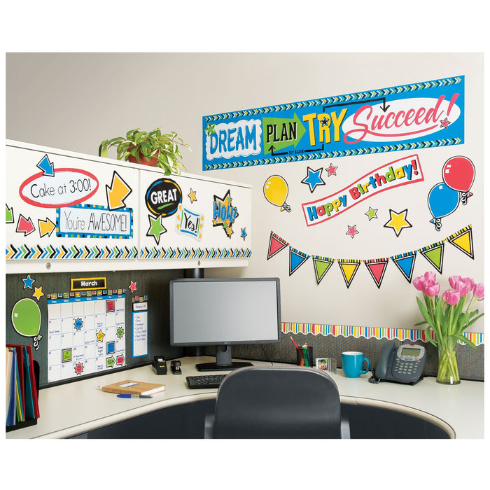 T8392 Bulletin Board Bold Wipe Off Calendar Office