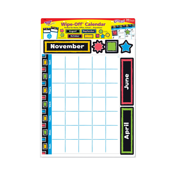 T8392 Bulletin Board Bold Wipe Off Calendar Package
