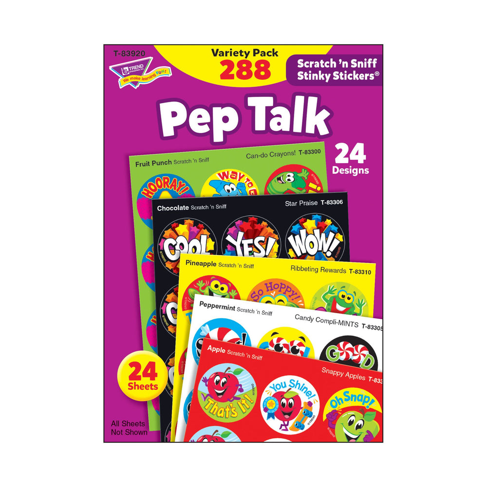 T83920 Sticker Scratch n Sniff Variety Pack Pep Talk