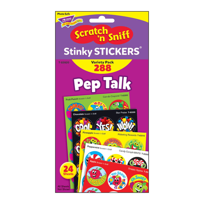 T83920 Sticker Scratch n Sniff Variety Pack Pep Talk Package