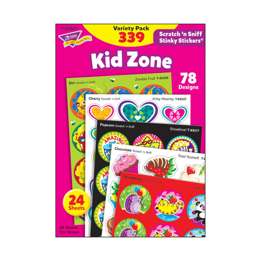 T83921 Sticker Scratch n Sniff Variety Pack Kid Zone