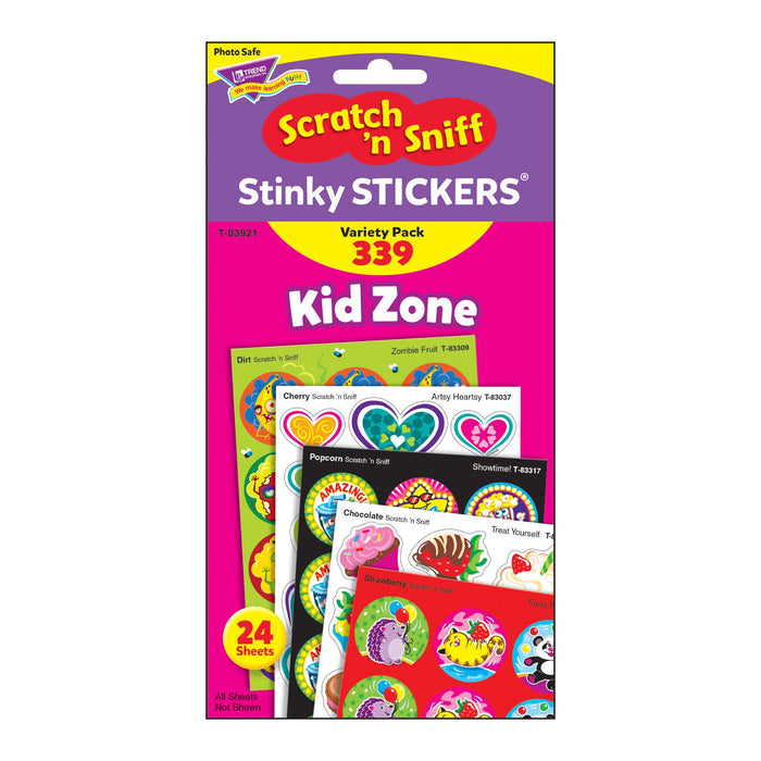 T83921 Sticker Scratch n Sniff Variety Pack Kid Zone Package