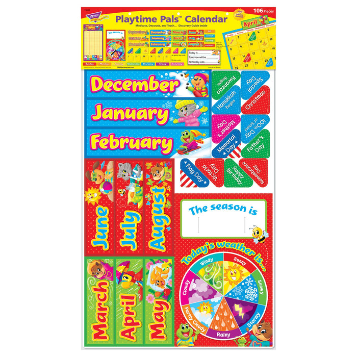 T8420 Bulletin Board Playtime Pets Calendar Package