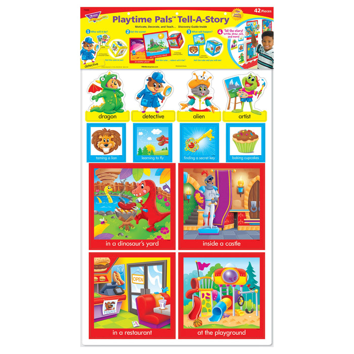 T8422 Bulletin Board Playtime Pets Tell Story Package