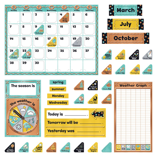 T8425 Bulletin Board Metal Calendar