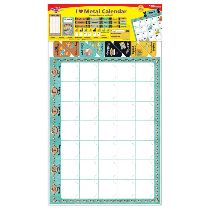 T8425 Bulletin Board Metal Calendar Package