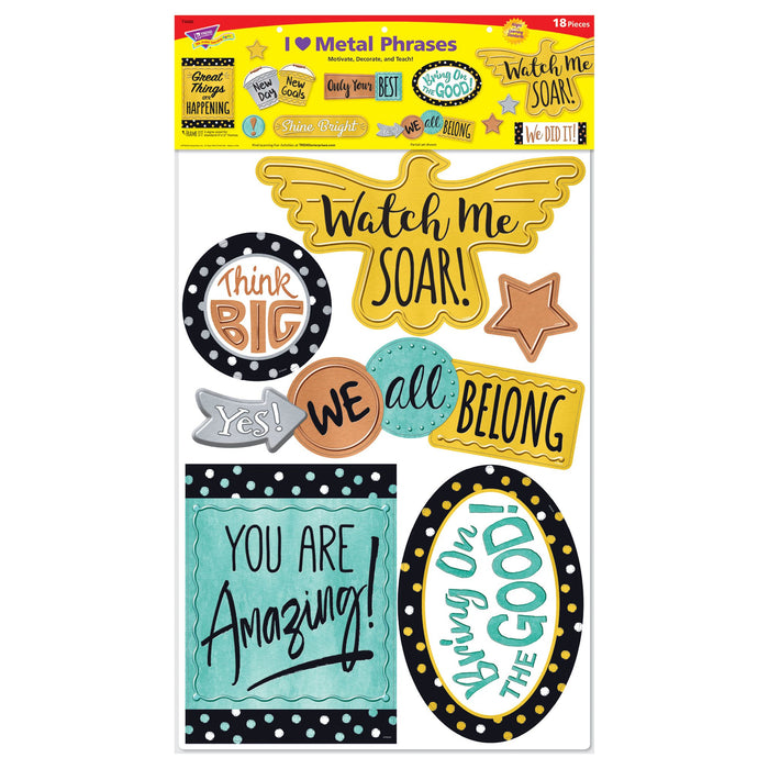 T8426 Bulletin Board Metal Phrases Package